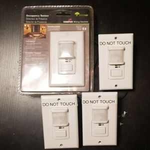4 Cooper Occupancy Sensor Light Switches